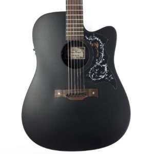 guitarra electroacustica baton rouge negra cheap principiantes