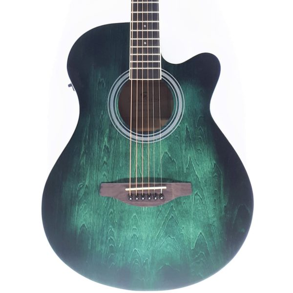 soundsation saguaro ce green sunburst mini jumbo