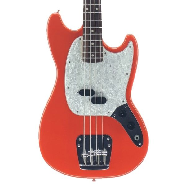 Mustang Bass Fender Japan Red